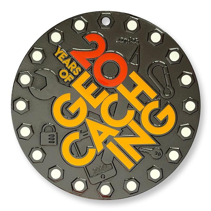 20 years of geocaching geocoin
