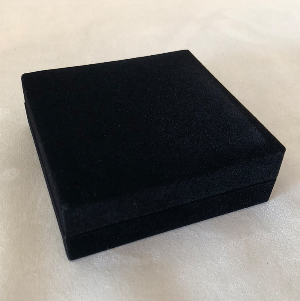 black velvet geocoin box