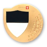 fribourg geocoin | matte gold (le)