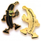 gone bananas geocoin | gold | blacky