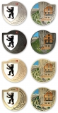 appenzell innerrhoden geocoins | set of 4 with gold (xle)