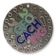 20 years of geocaching geocoin | antique silver