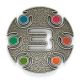 3 million geocaches geocoin | antique silver