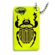 swiss bug (travel tag), neon green