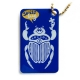 swiss bug (travel tag), royal blue on gold